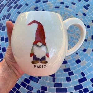 """NWOT Rae Dunn """"MAGIC"""" Red Inside Gift Mug"""
